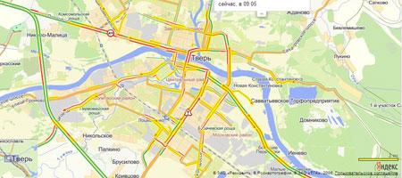 """...Популярный интернет-сервис  """"Яндекс.Карты """" научились строить маршруты проезда на общественном транспорте Твери..."""